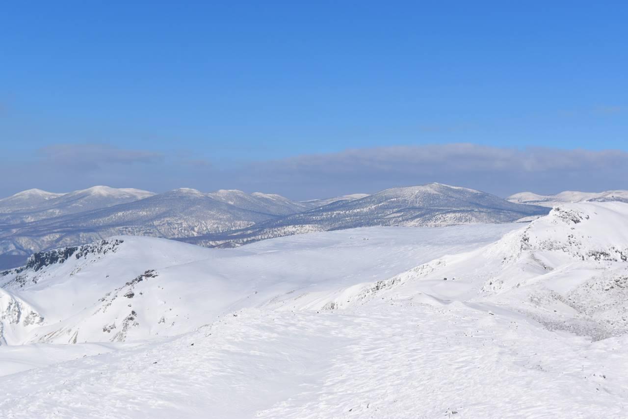 安達太良山からの雪の吾妻山