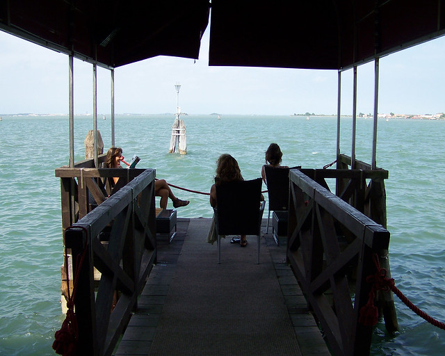 Muelle privado del hotel Boscolo de Venecia