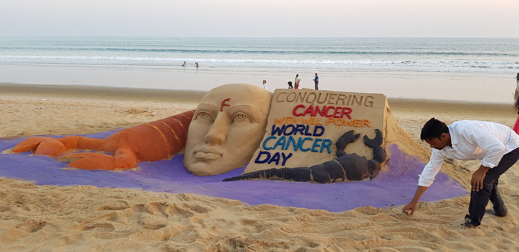 CONQUERING CANCER WITH WILL POWER – SandArt By Manas Sahoo