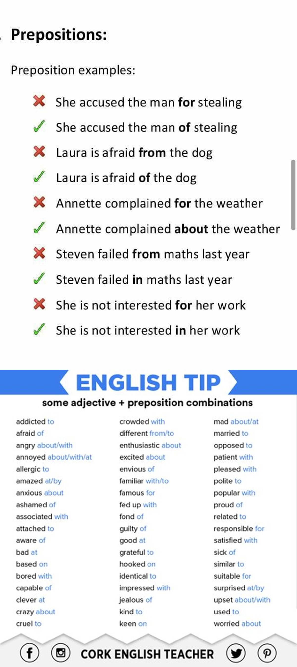 Common Errors in the Use of Prepositions 3