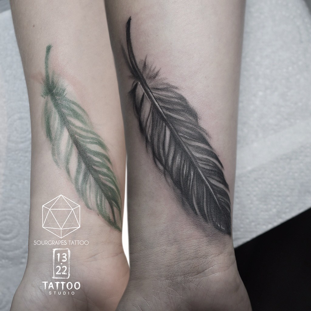 Feather Coverup Tattoo Mr J Best Sourgrapestattoo 1322 Flickr