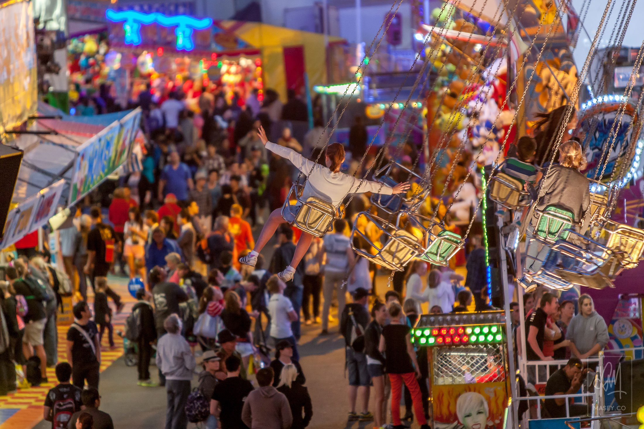 Brisbane EKKA Sideshow Alley 2013