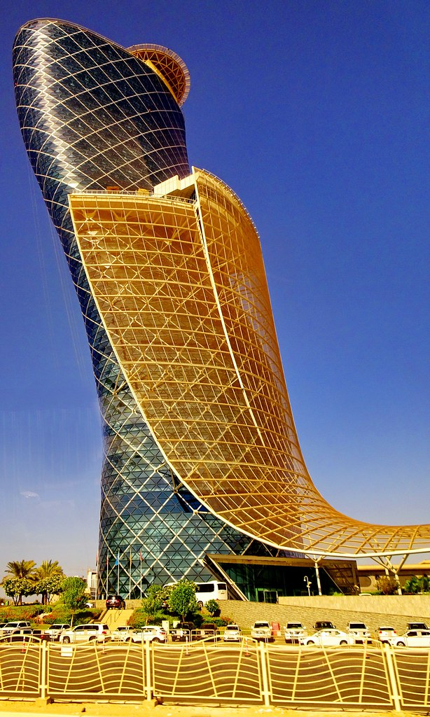 Capital Gate Building In Abu Dhabi At 160 Metres Tall