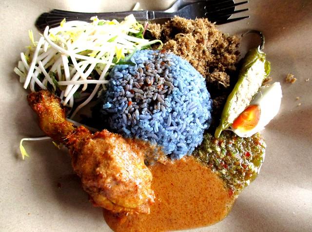 Warong Cafe nasi kerabu ayam percik, drumstick
