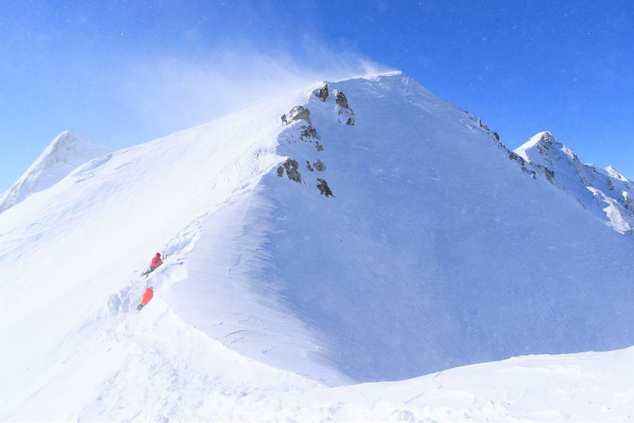 唐松岳雪山登山