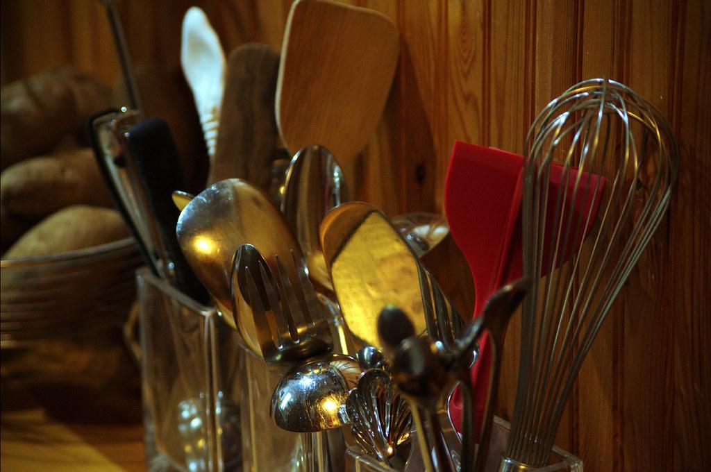Today's photo: Kitchen utensils; January 28, 2018 (Pentax K-3 II)