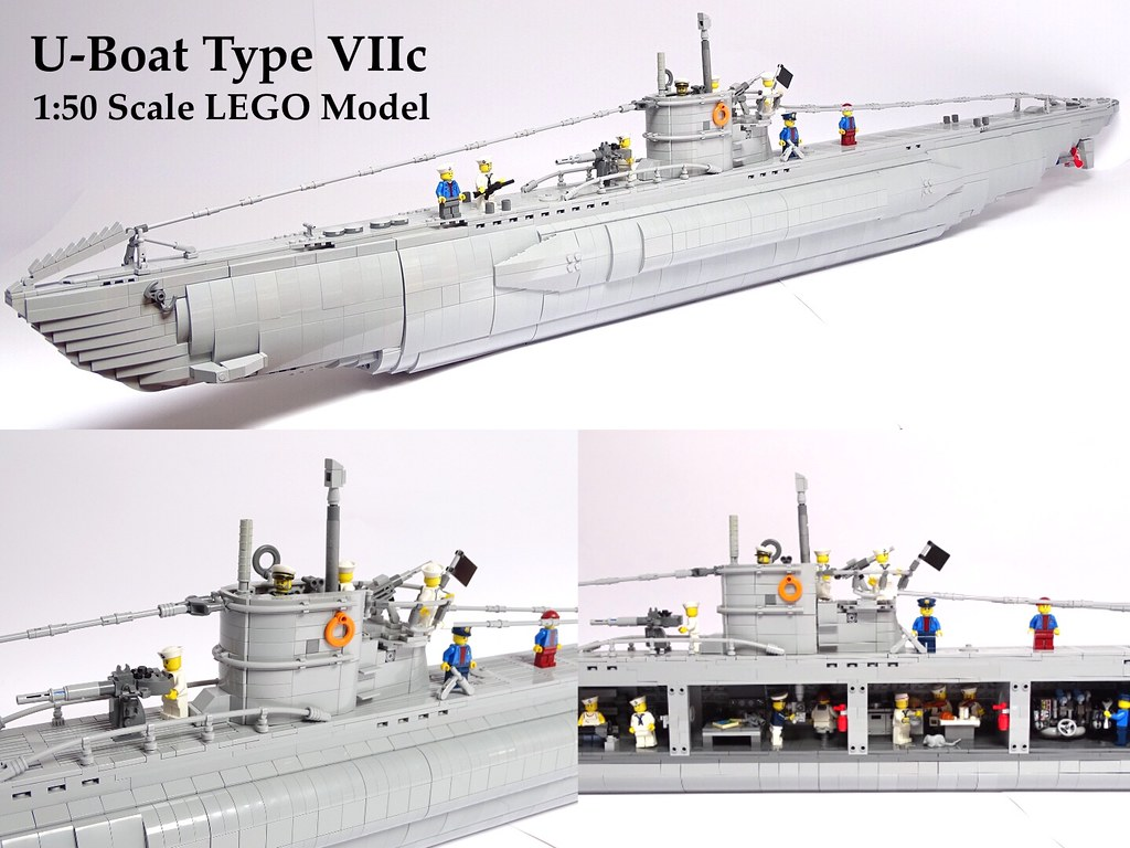 U-Boat VIIc 1:50 LEGO Model   Luis Peña   Flickr