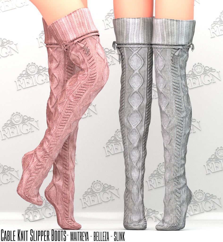 Reign Cable Knit Slipper Boots Available Now At The Reig Flickr