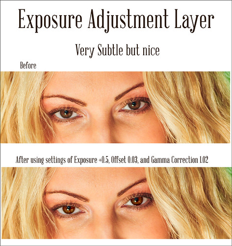 Image of Exposure Adjustment Layer example
