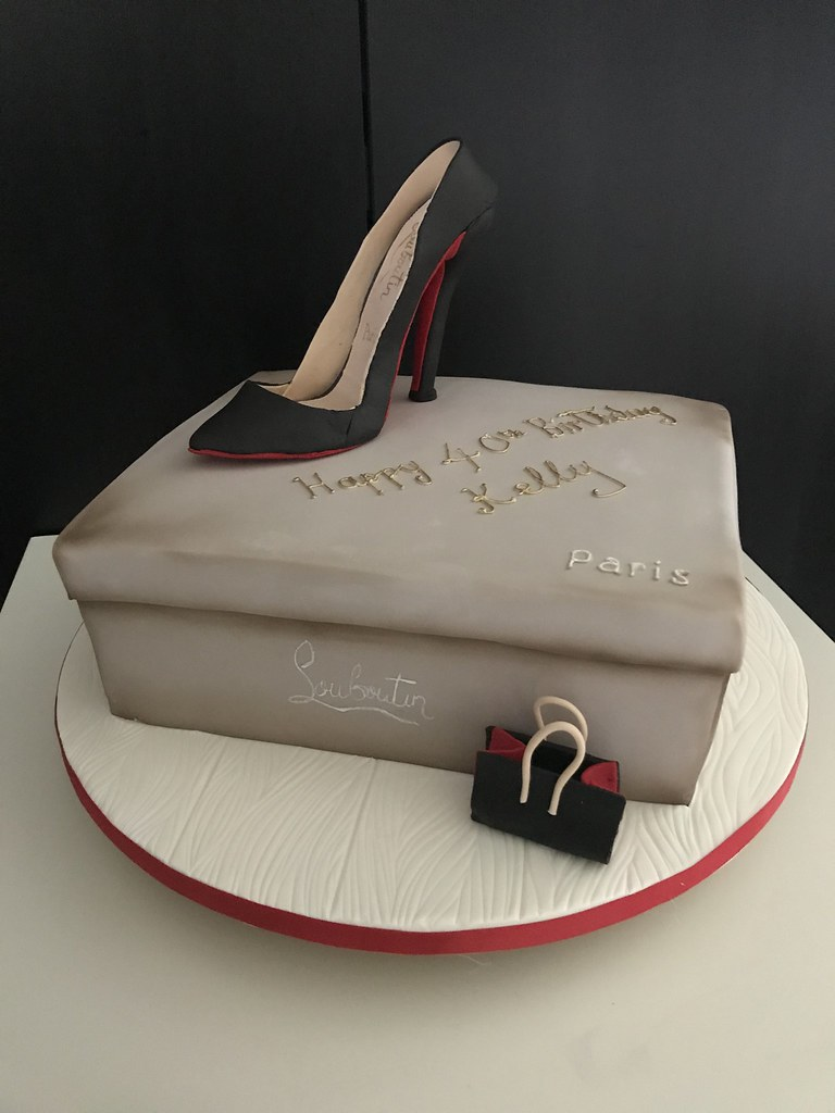 Louboutin Shoe Cake For A 40th Happy Birthday Kelly Lou Flickr
