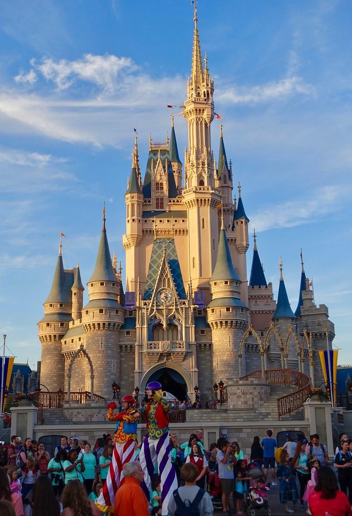 Sunset On The Disney World Castle