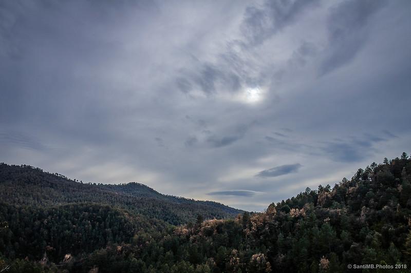 Cielo nublado en el Berguedà