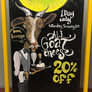 #goatcheese #onedaysale #chalkart #wfmsga #fromage | by simple heady