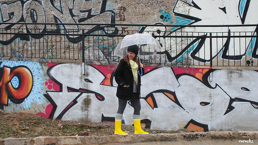botas de agua amarillas Aigle