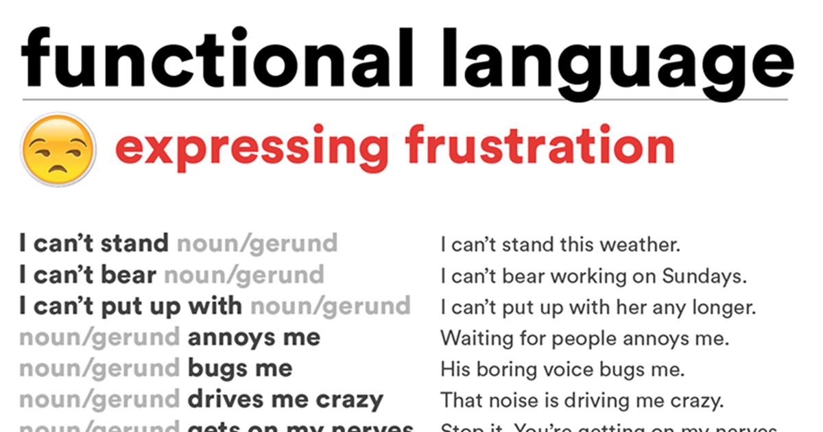 Expressing Frustration 5