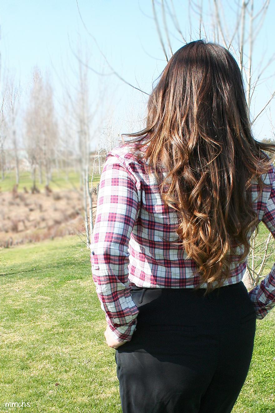 pelo largo natural con hondas