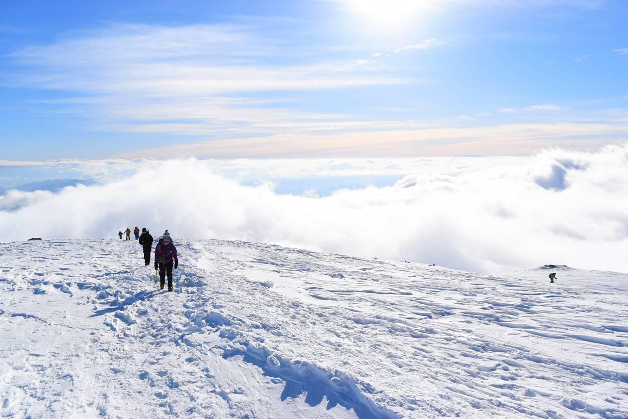 白馬八方尾根からの雲海