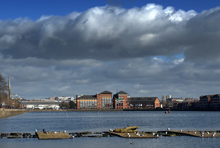Clouds over Preston Docks | by Tony Worrall