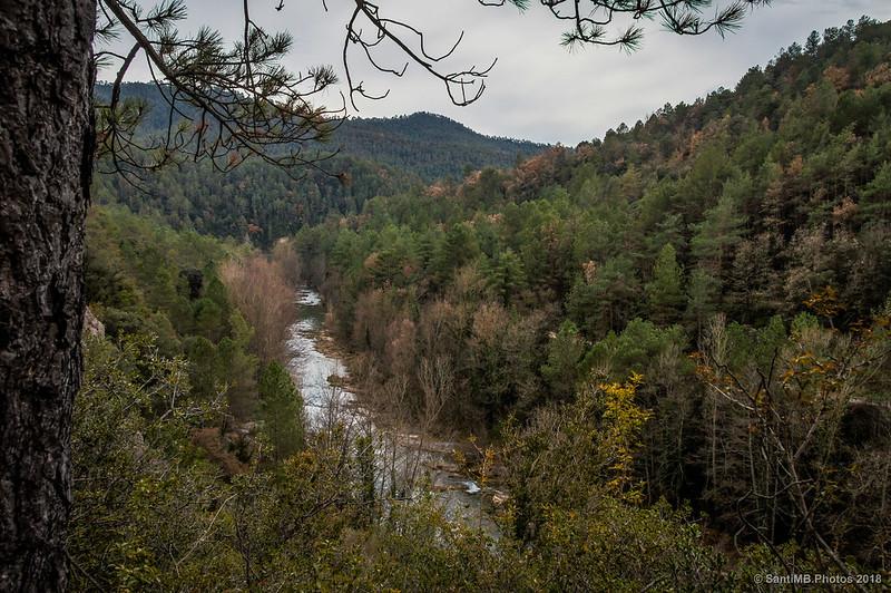 Río Llobregat cerca del Torrent de Guimbàs