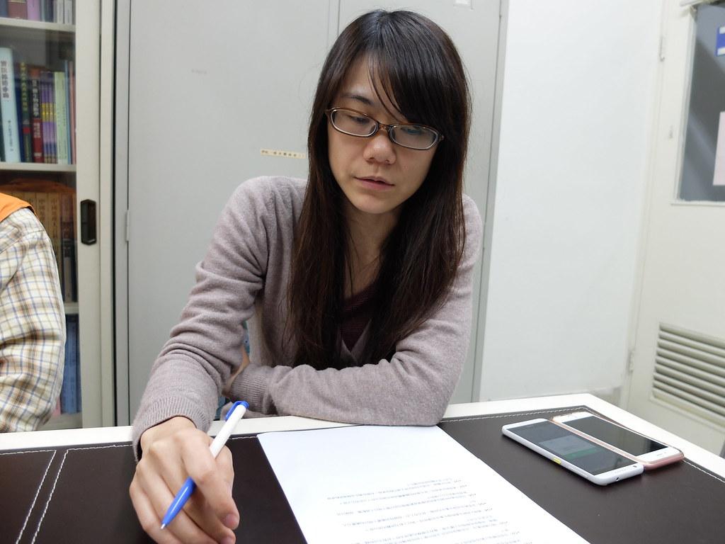 台北市動保處產業保育組長林立容。攝影:林睿妤。