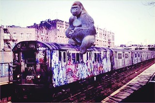 King Kong goes joy-riding through New York City. | by Fotofricassee