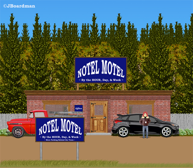 Sharon Clark left the Motel ©JBoardman