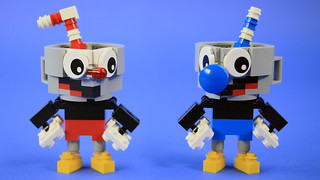 LEGO Cuphead and Mugman (Overworld color scheme) | by BRICK 101