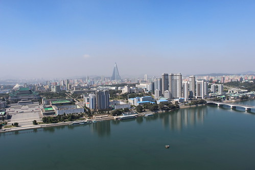 View from the Tower of Juche Idea, Pyongyang | by Timon91