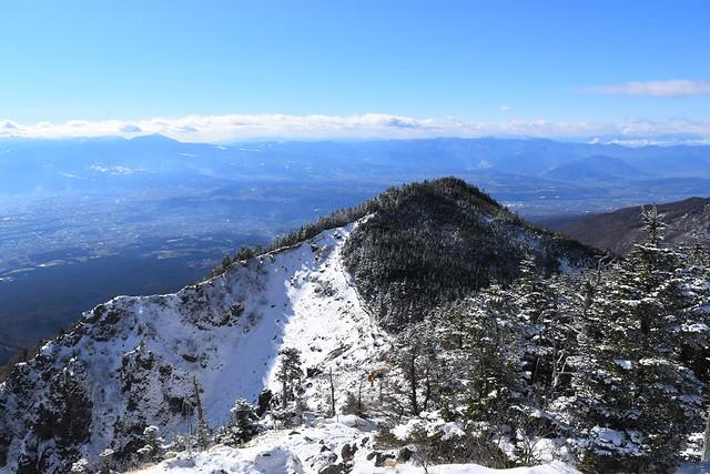 黒斑山から下山