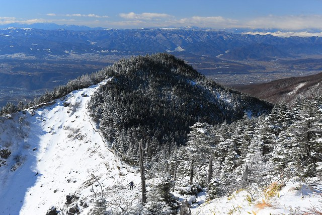 黒斑山(浅間山)の樹氷の稜線