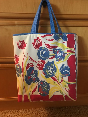 Retail shopping bag from vintage tablecloth | by konarheim