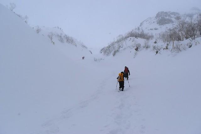 北アルプス焼岳 雪山登山