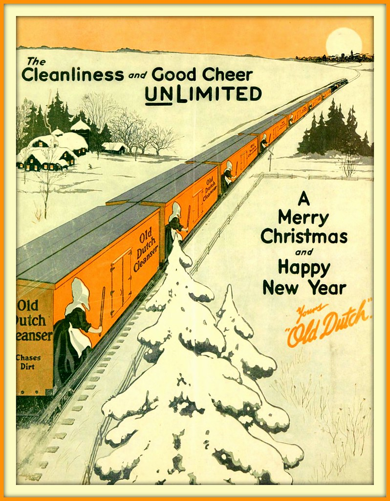 Merry Christmas In Dutch.1915 December 25 Merry Christmas From Old Dutch Cleanser
