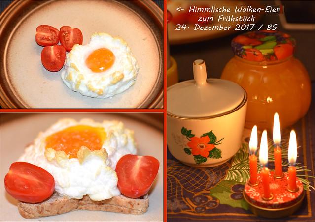 st gemachte Orangenmarmelade, Wolken-Eier ... Fotos und Collagen: Brigitte Stolle