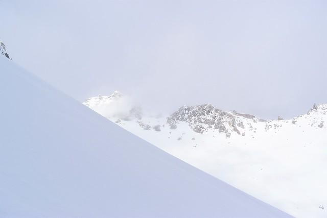 焼岳・北峰の稜線
