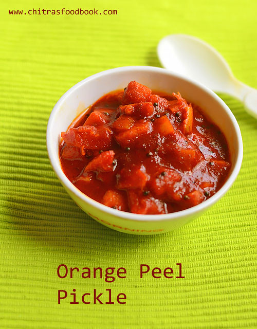Orange peel pickle