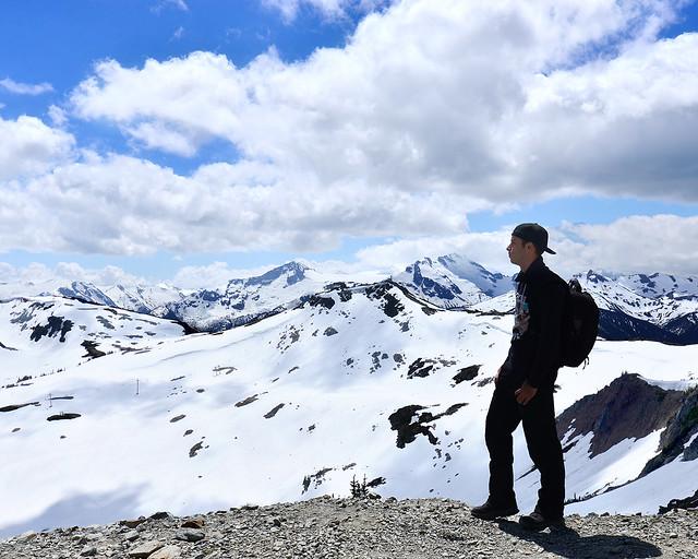 Diario de un Mentiroso en Canadá haciendo un trekking en lo alto del monte Whistler