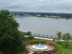 View to Mississippi River from Natchez Grand Hotel