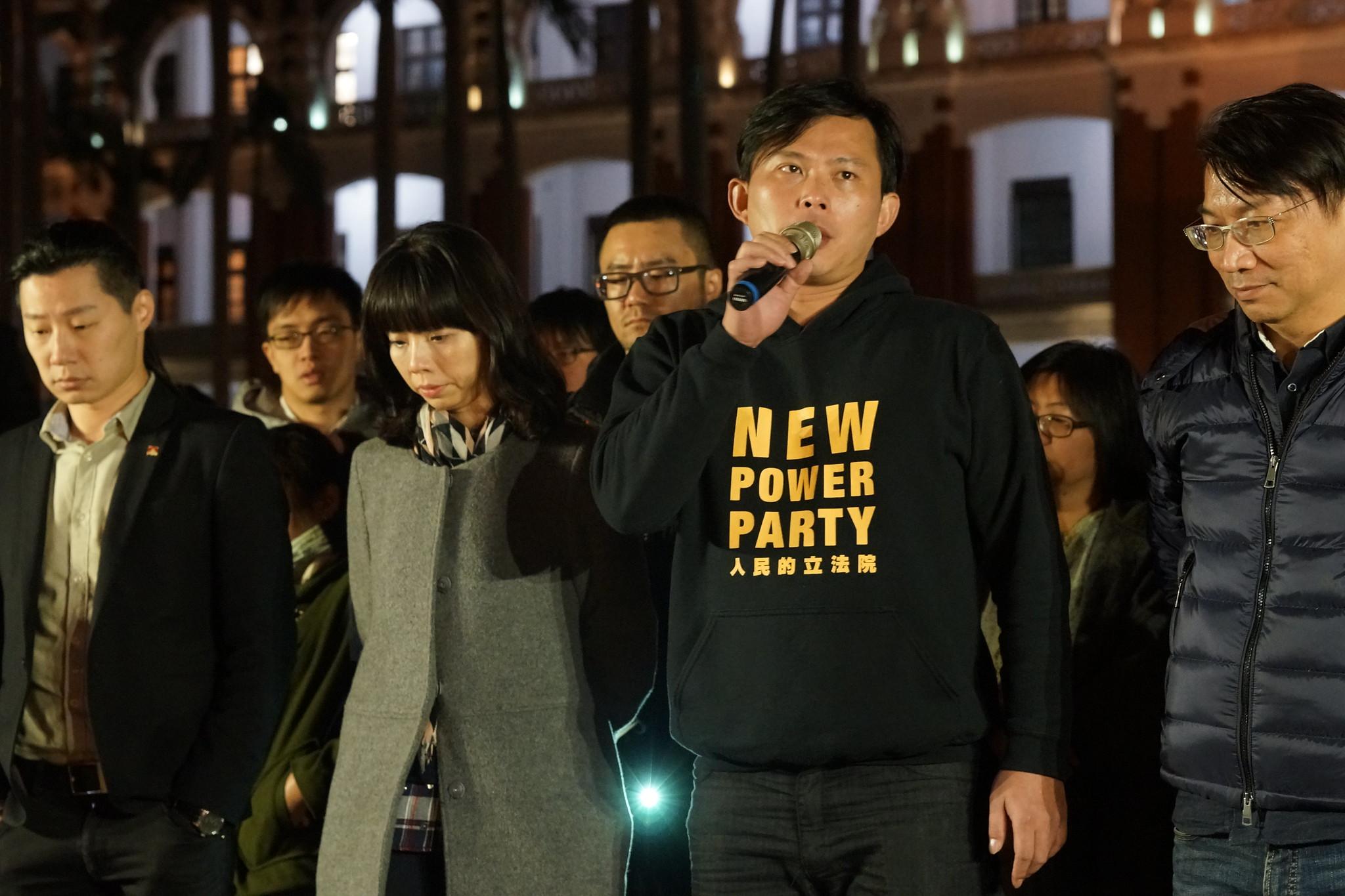 黃國昌回應政院發言人林鶴明。(攝影:王顥中)