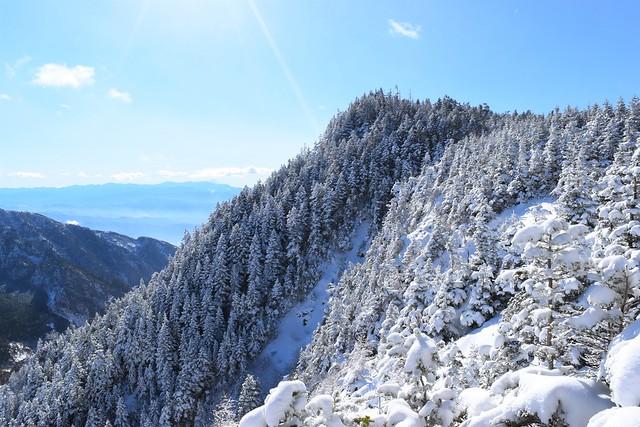 黒斑山の樹氷風景