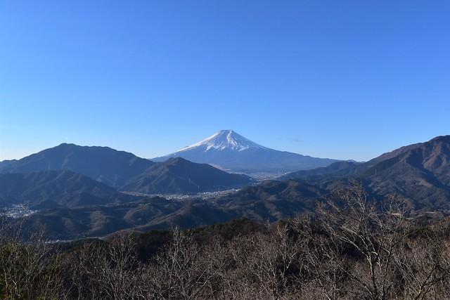 高川山からの富士山の展望