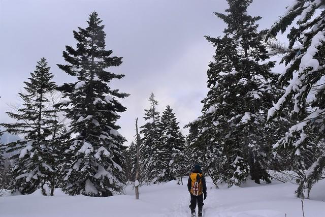 冬の焼岳登山・新中ノ湯コース
