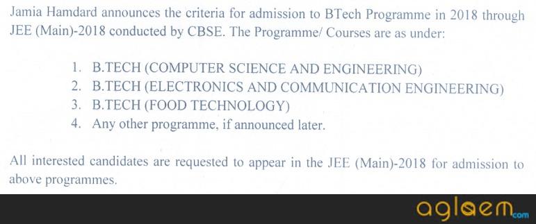 Jamia Hamdard University Admission 2018
