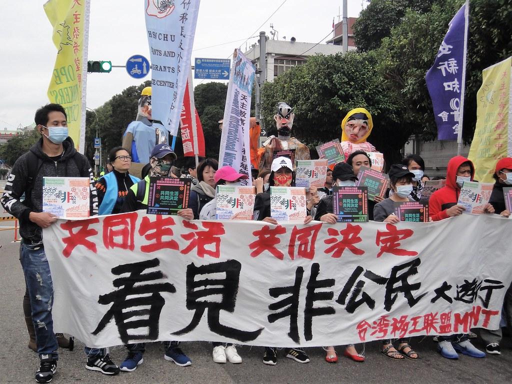 67万移工在台诉求享有政治权力。(摄影:张智琦)