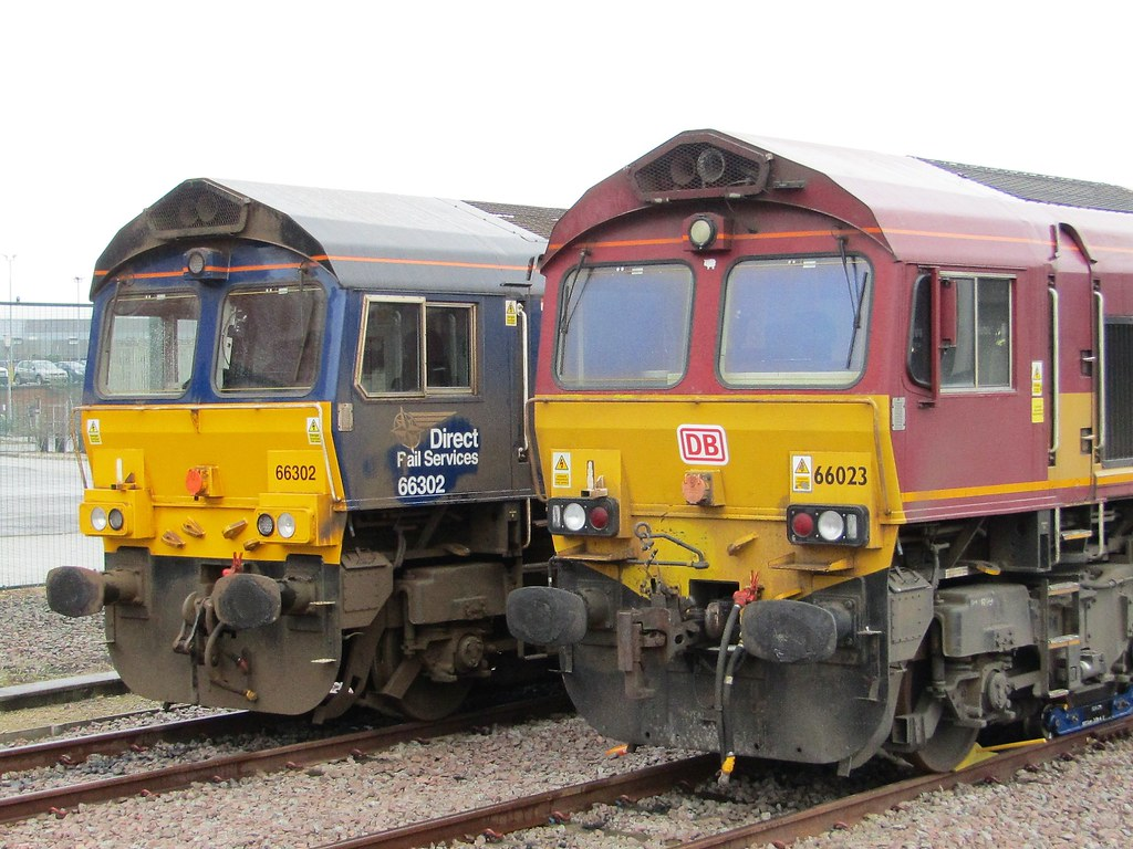 ... Double Sheds 66302 & 66023 At York Station   by Gary Chatterton 4  million Views