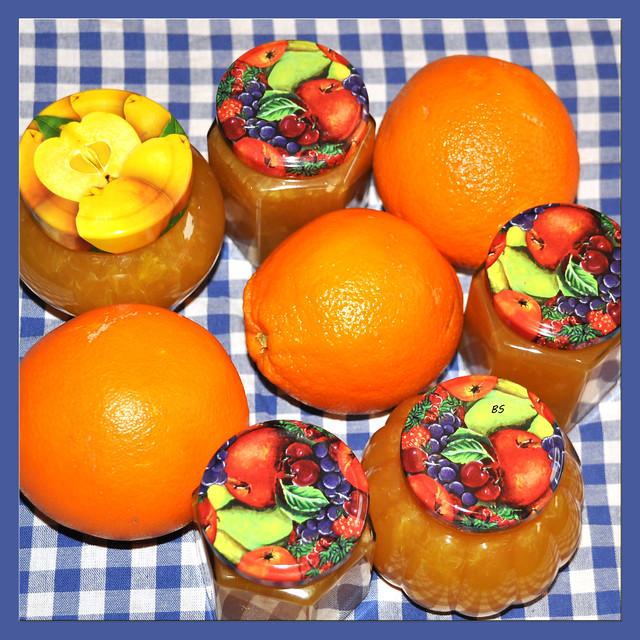 Orangenmarmelade Orangengelee selbst gemacht ... Foto: Brigitte Stolle
