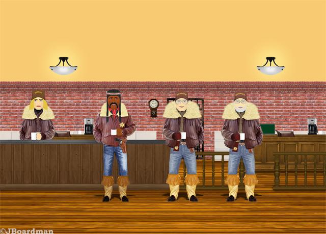 Joey & Boomer in the Sheriff's office ©JBoardman