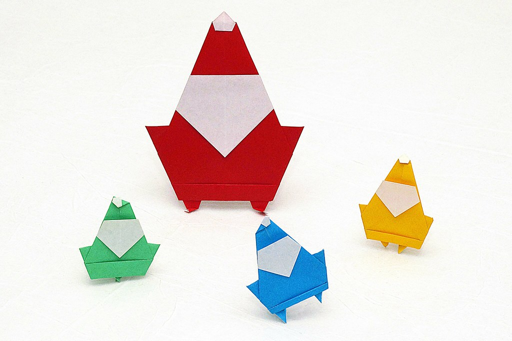 Origami Santa Claus Stphane Gigandet Three Talented Lit Flickr