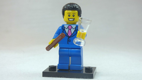 Brick Yourself Custom Lego Figure Businessman with Cigar & Champagne Flute | by BrickManDan