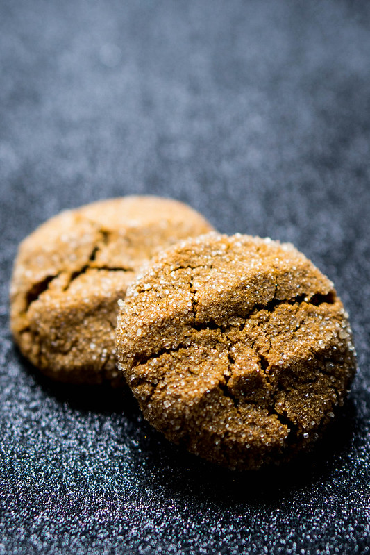 Gluten Free Molasses Crinkles | cookingalamel.com